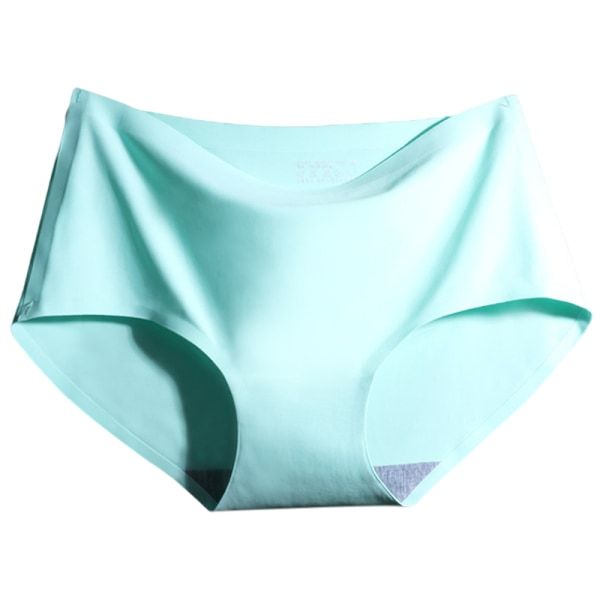 Women's Summer Seamless One-Piece Ice Silk Underwear Light Green,XXL