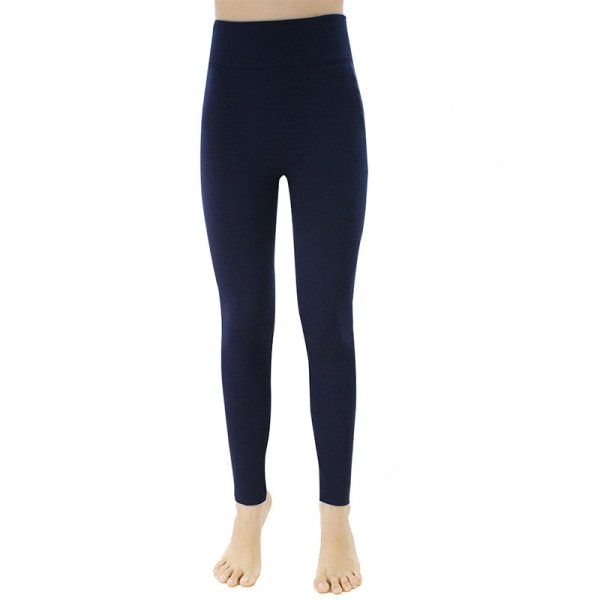 Women's tights yoga pants with cashmere and high waist Sky Blue,Plus Size