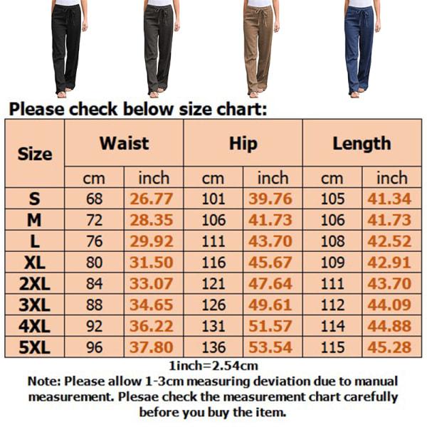 Women's Wide Leg Pants Casual Elastic Waist Yoga Sweatpants Gray,5XL