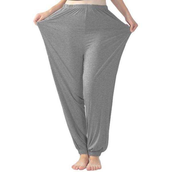 Women's Yoga Pants Elastic Solid Color Sports Runn Fitness Pants Dark gray,XXL
