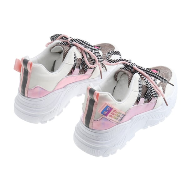 Women Sports Running Gym Shoes Outdoor Athletic Casual Sneakers Pink,39