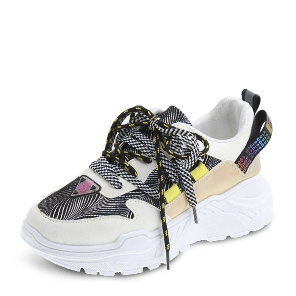 Women Sports Running Gym Shoes Outdoor Athletic Casual Sneakers Yellow,38