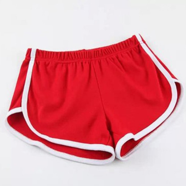 Women Yoga Shorts Fitness Sports Fitness Running Pants Red,M