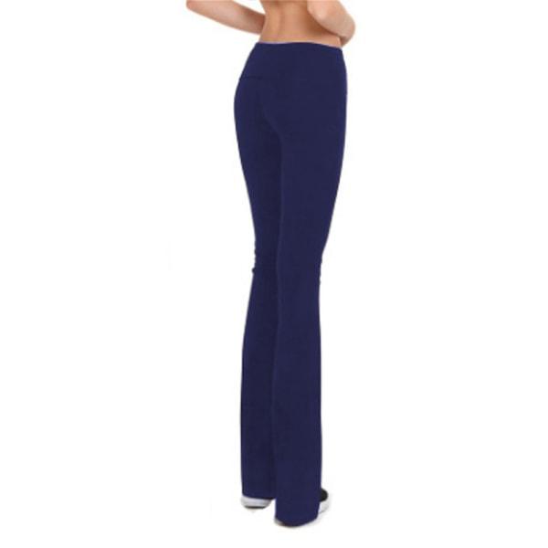 Womens sports leisure wide leg yoga pants fitness pants dark blue,XL