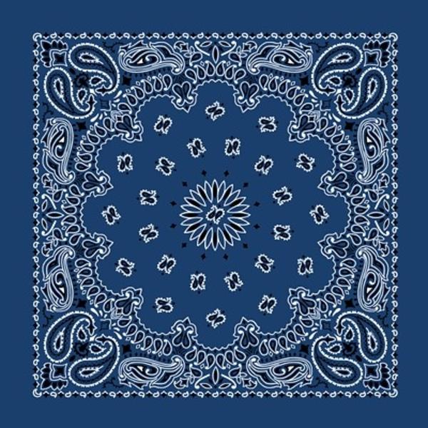 BLÅ Bandana & snusnäsduk blå