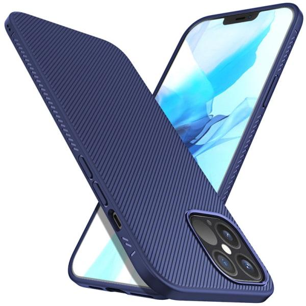 Greppvänligt skal till iPhone 12 / 12 Pro - Wavy Comfort blå