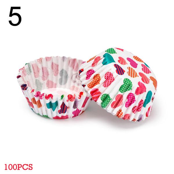 100st tårta papper koppar djur blomma 5
