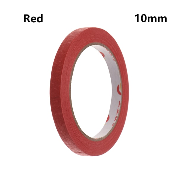 1PC Masking Tape Adhesive Car Sticker RED 10MM red 10mm