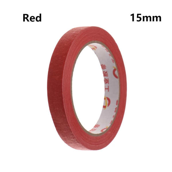 1PC Masking Tape Adhesive Car Sticker RED 15MM red 15mm