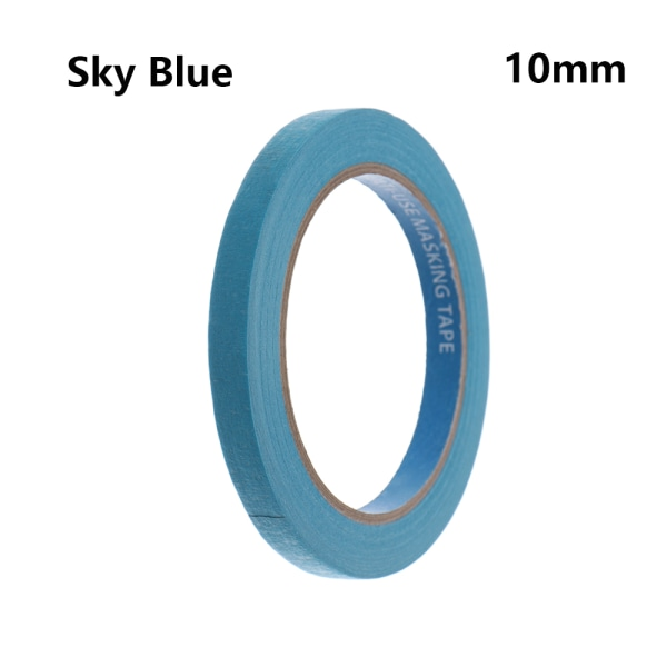 1PC Masking Tape Adhesive Car Sticker SKY BLUE 10MM sky blue 10mm