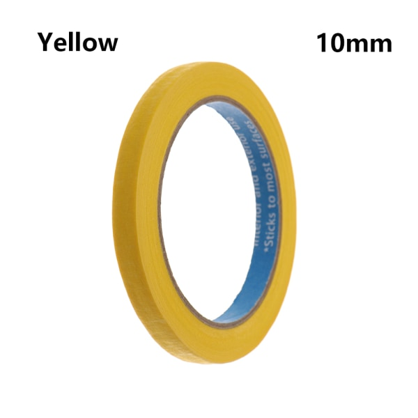 1PC Masking Tape Adhesive Car Sticker YELLOW 10MM yellow 10mm