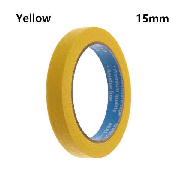 1PC Masking Tape Adhesive Car Sticker YELLOW 15MM yellow 15mm