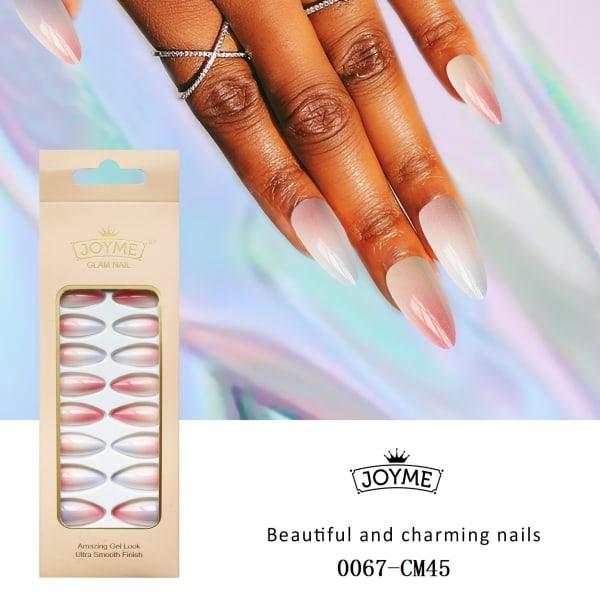 24st förlängda naglar mandelform CM45
