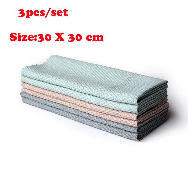 3ST / Set Rengöringsduk Tvätthandduk Mikrofiberhanddukar Rag