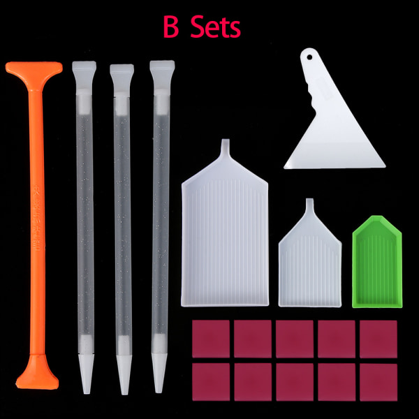 Cross Stitch 5D Diamond Painting Kits Point Drill Pen Corrector Embroidery