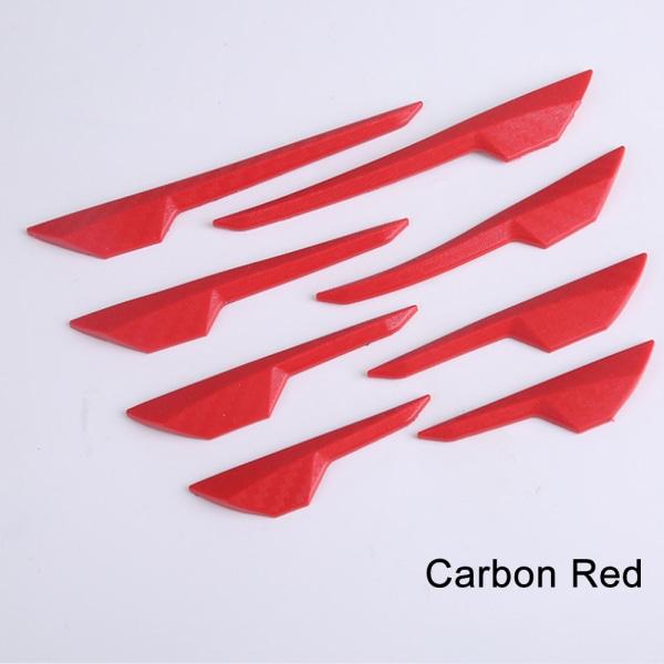 8st Bilspoiler Splitter Canard Valence CARBON RED