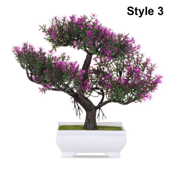 Konstgjorda Bonsai Simulering Krukväxter Fake Blommor Prydnad