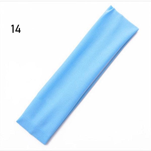 Elastiska pannband svettband hårband 14