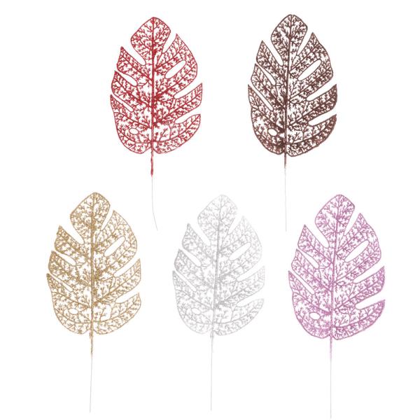 Gold Powder Leaf DIY Flower Arrangement Back Bamboo Leaves 5