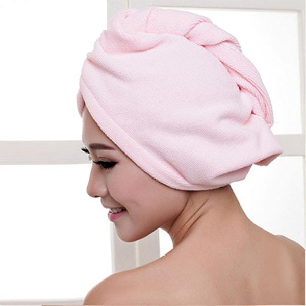 Hair Dry Hat Hair Drying Towel Shower Cap PINK