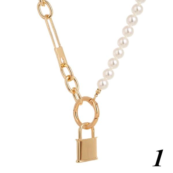 Imitation Pearl Choker Punk Necklace 1