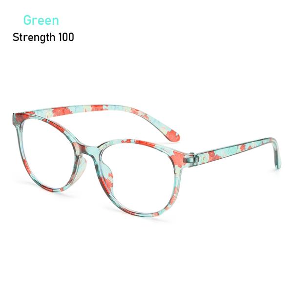 Läsglasögon Anti-blå ljusglasögon GRÖN STYRKA 100