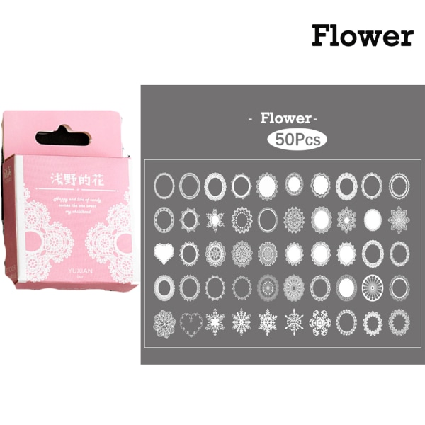 Sealing Stickers Lace Decorative Sticker Seal Label FLOWER