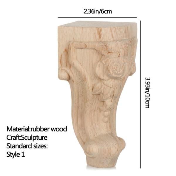 Vintage träsnidade möbelfotben 10X6CM STIL 1