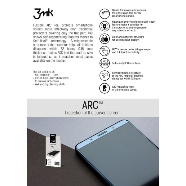 3MK™ Curved ARC Skärmskydd Samsung Galaxy S20 Transparent