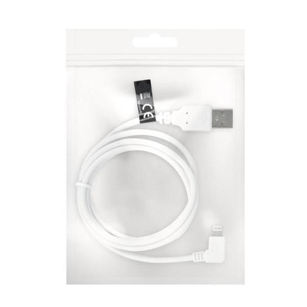 90° Hållbar Laddare till iPhone 12, 11, XR, 11 Pro, XS, 8, 7, 6 Vit
