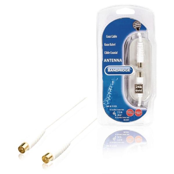Antennkabel 7,5 m Digital Koaxkabel Svart