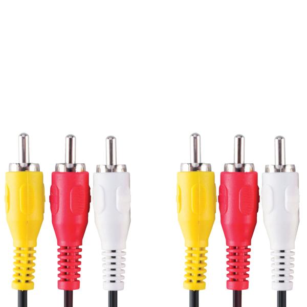 Bandridge AV Video Kabel RCA 3x Svart