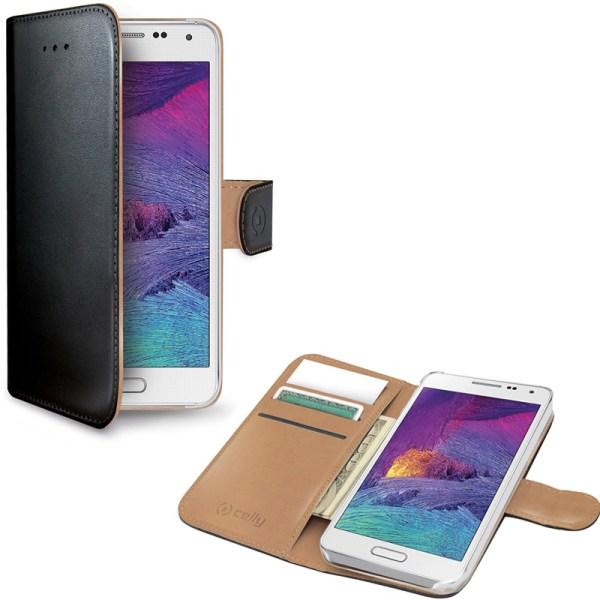 Celly Wallet Case Galaxy A7 Svart Svart
