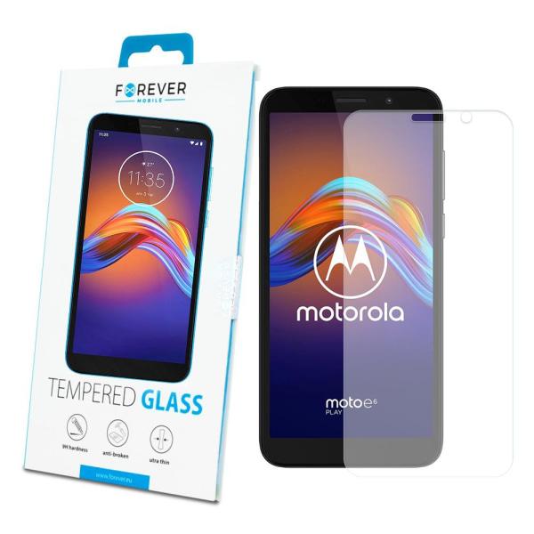 Forever™ Skärmskydd till Motorola Moto E6 Play - Härdat Glas Transparent
