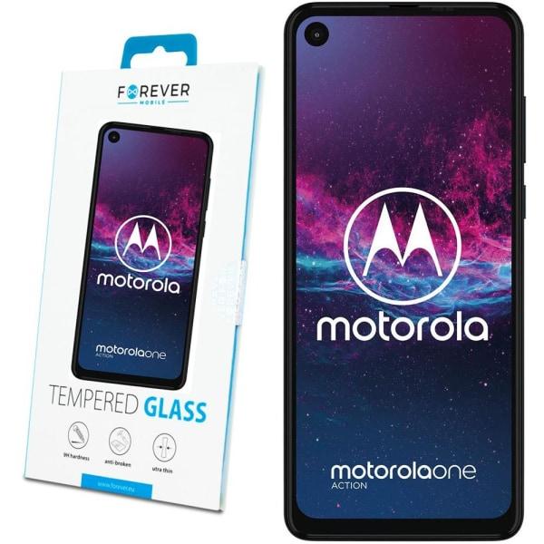 Forever™ Skärmskydd till Motorola One Action - Härdat Glas Transparent