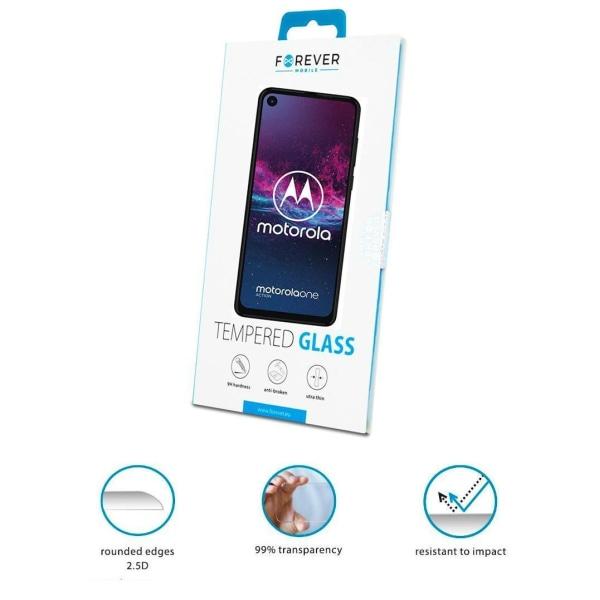 Forever™ Skärmskydd till Motorola One Zoom - Härdat Glas Transparent