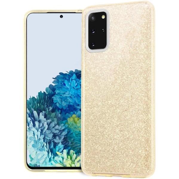 Glitter Skal för Samsung Galaxy S20 - Guld Guld