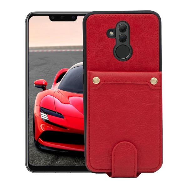 Huawei Mate 20 Lite Plånboksfodral Fodral - Äkta läder - Röd Röd