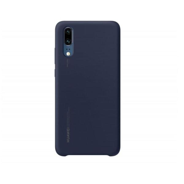 Huawei P20 Silicone Case Original Skal - Mörkblå Transparent