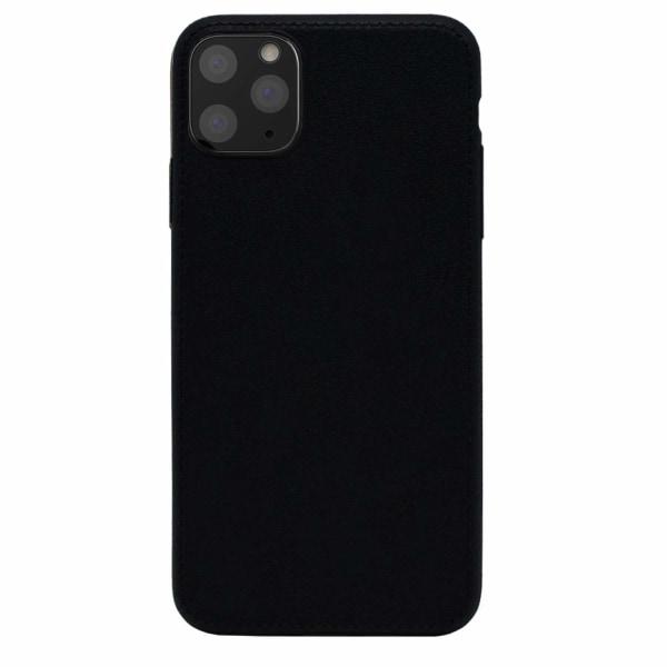 iPhone 11 Pro Max Skal i TPU/Läder mönstrat, Svart Svart