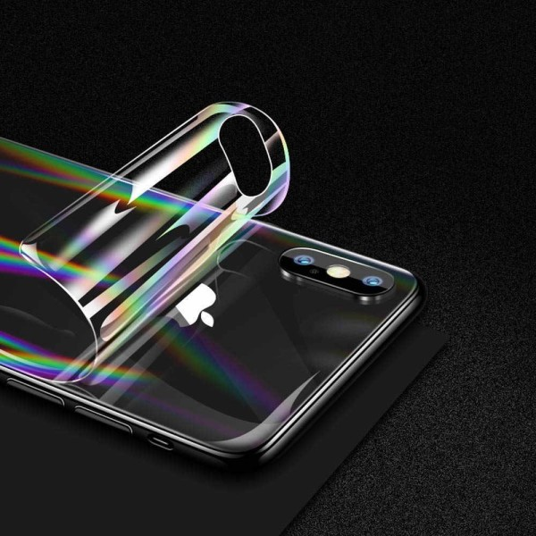 iPhone 12 Baksida Skyddsfilm - Aurora Transparent