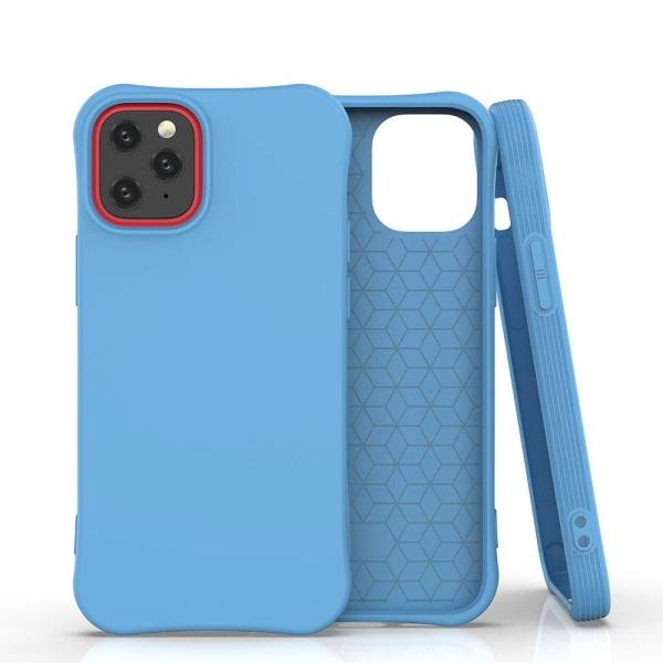 iPhone 12 Mini Silikonskal - Liquid Silicone Cover -  Blå