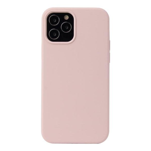 iPhone 12 Mini Skal Silicone Slim Case Soft Sand Pink Rosa