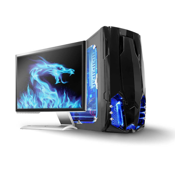 LED-ljuslist för dator - Blå 50 cm SATA-driven för dator Blå