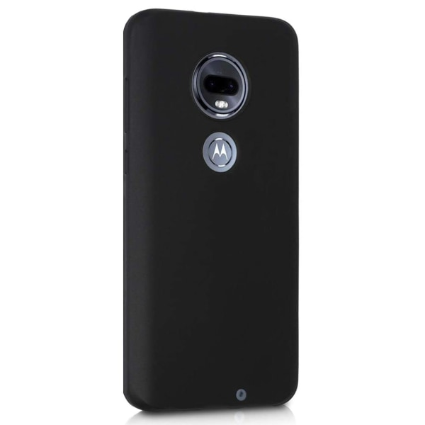 Motorola Moto G7 Plus Skal Svart Silikonskal  Svart