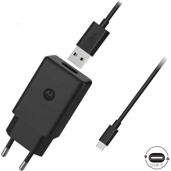 Motorola Väggladdare USB-C 10W / 2A Original inkl. Kabel Black