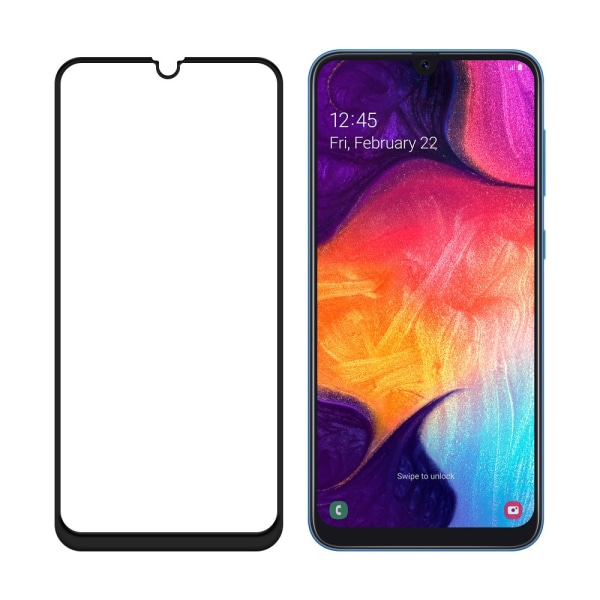 Samsung Galaxy A50 Härdat Glas  CURVED [Full-Cover] Transparent