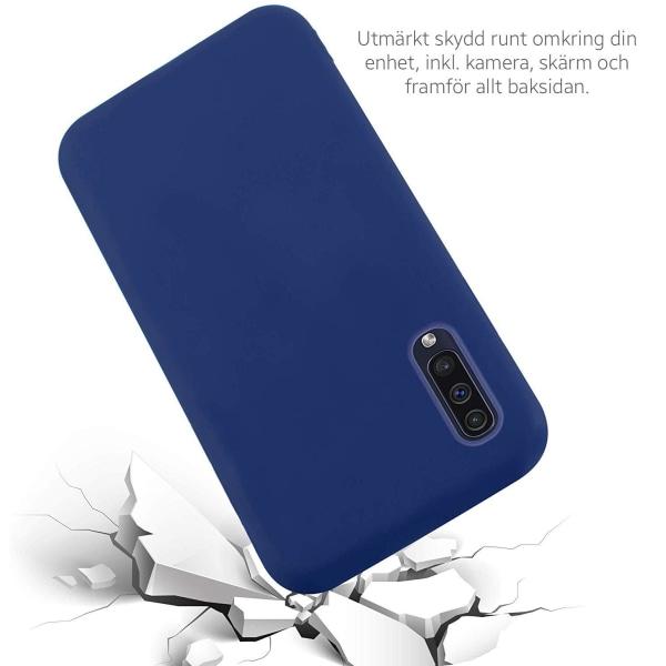 Samsung Galaxy A50 Silicone Case - Navy Silikonskal Svart