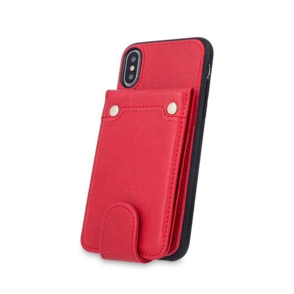 Samsung Galaxy S7 Plånboksfodral Fodral - Äkta läder - Röd Röd
