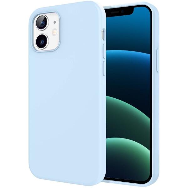 Silikonskal till iPhone 12/12 Pro - Ljusblå Blå